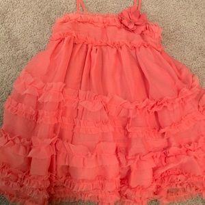 GAP Coral Ruffle Tiered Dress
